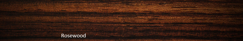 typical rosewood grain