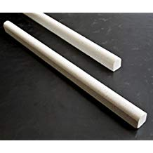 3/4x12 Light Cream Limestone Pencil Liner Wall Trim Tile