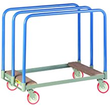 """Little Giant PTC-2436-5PY Steel Panel Truck with Swivel Casters and Carpeted End, 1000 lbs Load Capacity, 24"""" Width x 36"""" Length"""