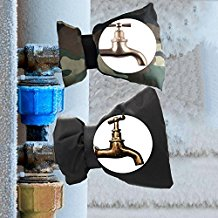 2 Pcs of Faucet Covers Outdoor Faucet Socks for Winter, Freeze Fade and Split Protection, Camouflage And Black